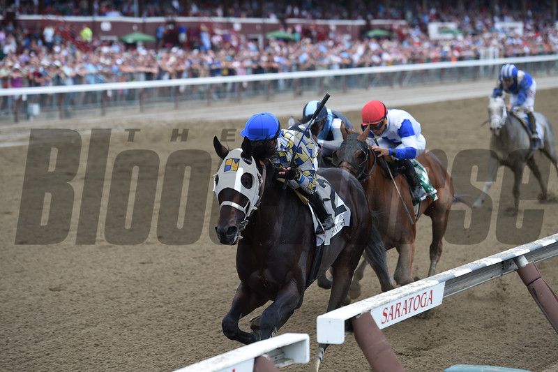 Laoban wins the 2016 Jim Dandy.<br /> Coglianese Photo/Chelsea Durand