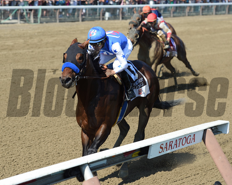 Drefong wins the 2016 King's Bishop.<br /> Conglianese Photos/Chelsea Durand