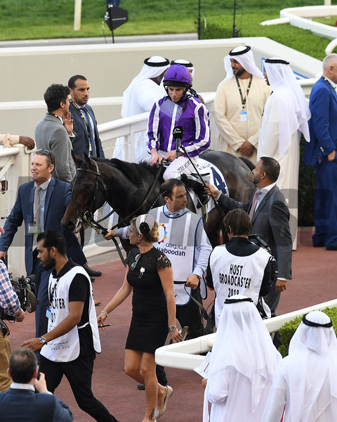 Mendelssohn, Ryan Moore win the UAE Derby , DWC 2018, Meydan Race Course, Dubai, UAE, 3-31-18, photo by Mathea Kelley/Dubai Racing Club