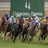 Will Call ridden to victory by Shaun Bridgmohan in the 24th running of the Twin Spires Turf Sprint at Churchill Downs<br /> Courtney V. Bearse Photo