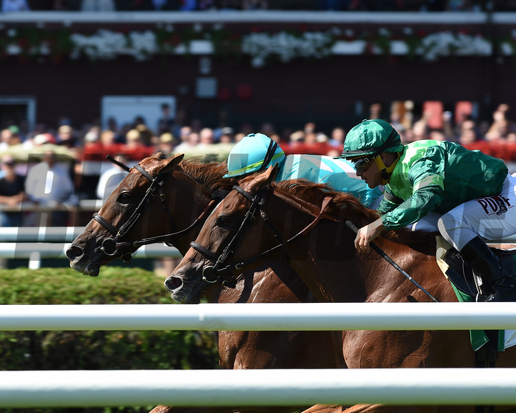 Uni (GB), Irad Ortiz Jr., Fasig-Tipton De La Rose Stakes, $100,000; Saratoga Race Course; August 4; 2018<br /> Coglianese Photos/Adam Mooshian