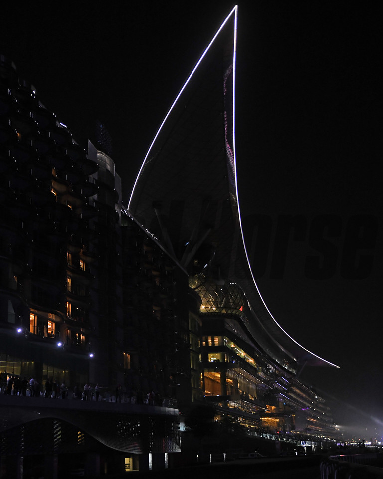 scene, grandstand, Dubai World Cup; Meydan Race Course; Dubai; March 31 2018
