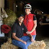 Barn foreman and exercise rider David Meah with his wife Anna at the barn of Richard Baltas at Santa Anita. Photo: Wally Skalij