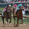 Monomoy Girls wins the 144th running of the Kentucky Oaks at Churchill Downs Friday May 4, 2018 in Louisville Kentucky.  Photo by Skip Dickstein