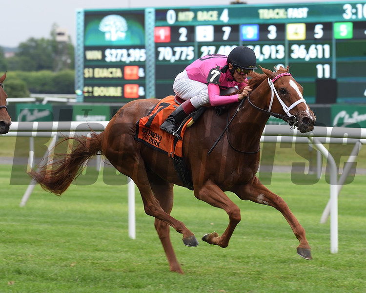 Got Stormy wins the 2018 Wild Applause Stakes<br /> Coglianese Photos