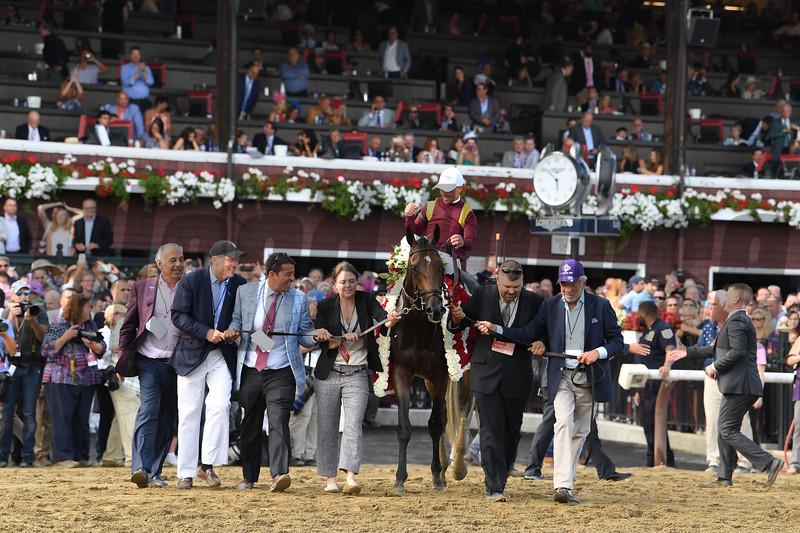 Catholic Boy wins the 2018 Travers Stakes<br /> Coglianese Photos/Chelsea Durand