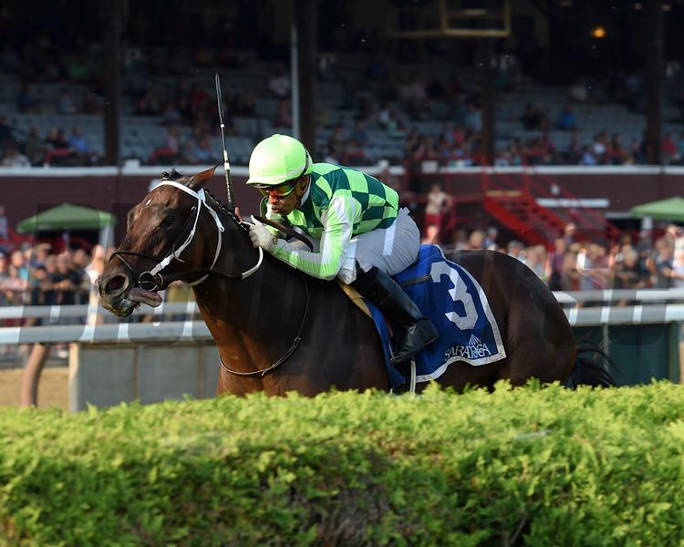 Chanteline wins the Smart N Fancy Stakes at Saratoga Sunday, August 28, 2018. Photo: Coglianese Photos/Elsa Lorieul