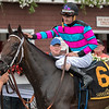 Finley'sluckycharm with jockey Brian Joseph Hernandez aboard wins the 27th running of The Honorable Miss Wednesday July 25, 2018 at the Saratoga Race Course in Saratoga Springs, N.Y.  (Skip Dickstein)