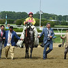 A Raving Beauty wins The Longines Just A Game at Belmont Park on June 9th 2018, jockey Irad Ortiz Jr up          <br /> Dave W. Harmon Photo