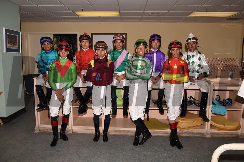 2018 Florida Derby Jockeys<br /> Coglianese Photos
