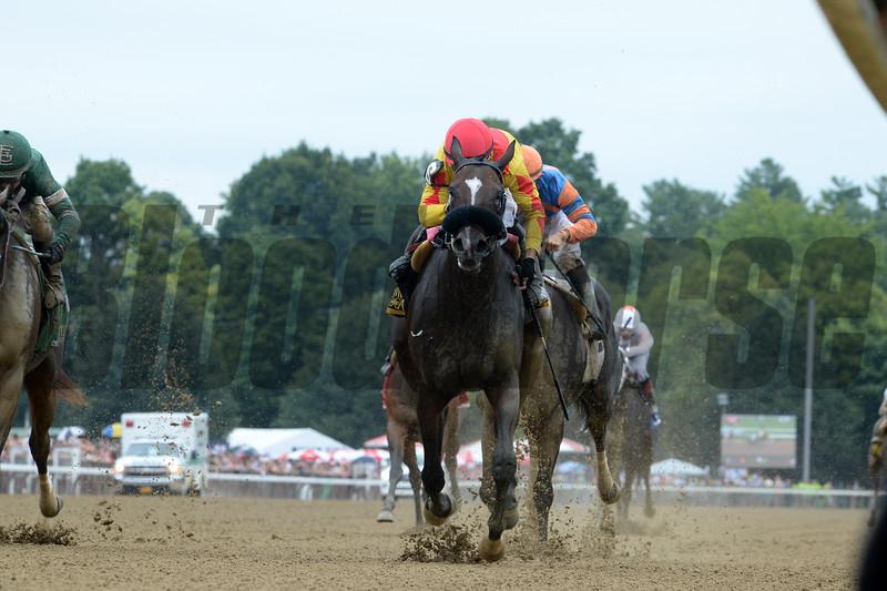 Sue's Fortune, Junior Alvarado, Adirondack Stakes, G2; Saratoga Race Course; August 11; 2018<br /> Coglianese Photos