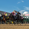 #4 Monomoy Girl  with jockey Florent Geroux wins the 102nd running of the Coaching Club American Oaks at the Saratoga Race Course Sunday July 22, 2018 in Saratoga Springs, N.Y.  Photo by Skip Dickstein/Tim Lanahan
