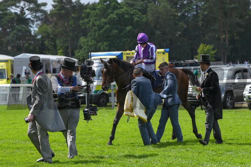 Kew Gardens; Ryan Moore; win the G2 Queens Vase; Royal Ascot; Ascot Race Course; Ascot; UK; 6-20-18; Photo by Mathea Kelley
