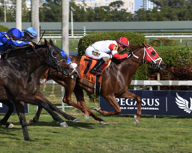 Oscar Nominated wins the W. L. McKnight Handicap<br /> Coglianese Photos/Viola Jasko