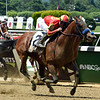 Hoppertunity with Flavien Prat win the 130th Running of the Brooklyn Invitational (GII) at Belmont Park on June 9, 2018   <br /> Dave W. Harmon