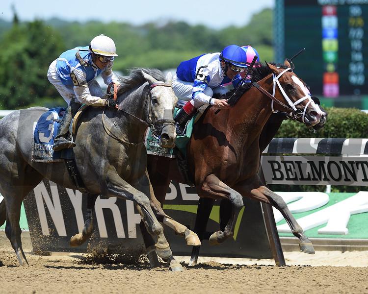 Prince Lucky wins 2018 Easy Goer Stakes at Belmont Park June 9, 2018. Photo: Coglianese Photos/Zoe Metz