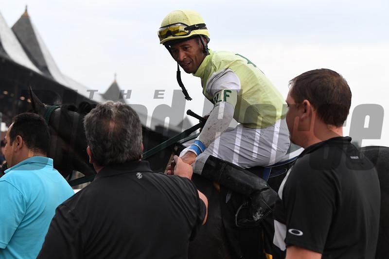 Chattel wins the 2018 Skidmore Stakes<br /> Coglianese Photos/Susie Raisher