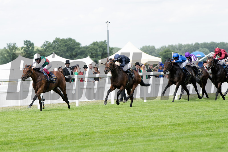 Without Parole, Frankie Dettori win the G1 St James's Palace Stakes, Royal Ascot, Ascot Race Course, Ascot, UK, 6-19-18, Photo by Mathea Kelley