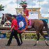 Audible with John Velazquez up wins Xpressbet Florida Derby   @ Gulfstream Park  March 31 2018<br /> © Joe DiOrio/Winningimages.biz