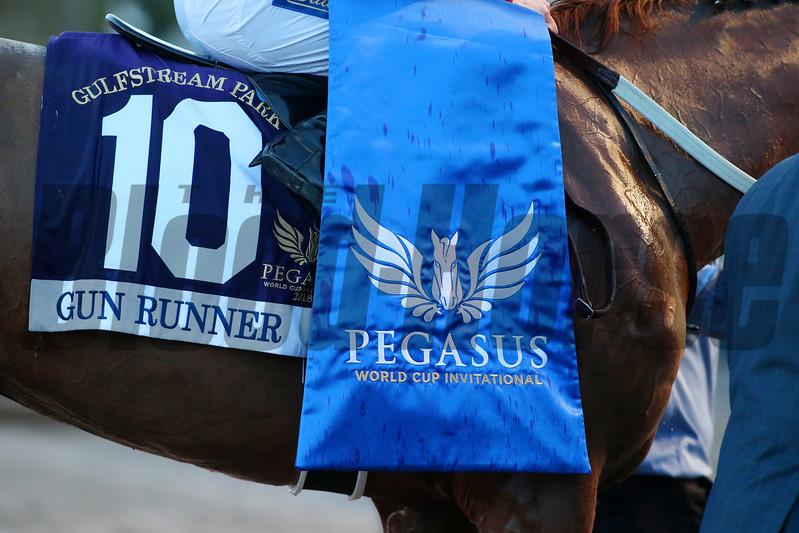 Gun Runner wins the 2018 Pegasus<br /> Coglianese Photos/Zoe Metz