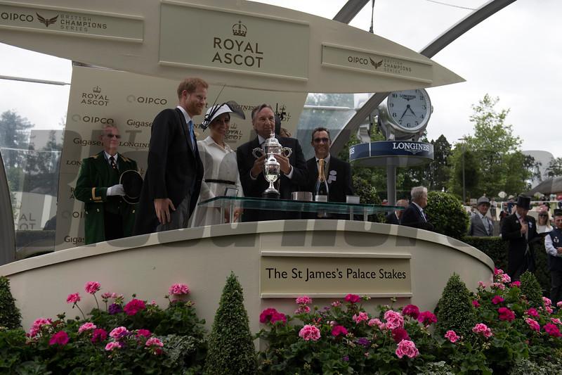 Without Patrol, Frankie Dettori win the G1 St James's Palace Stakes, Royal Ascot, Ascot Race Course, Ascot, UK, 6-19-18, Photo by Mathea Kelley, Tayna Gunther, John Gosden