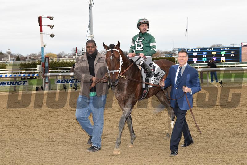 Army Mule, Joe Bravo, Carter Handicap, G1, Aqueduct Racetrack, April 7 2018<br /> Coglianese Photos