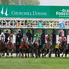 The field leaving the starting gate in the Old Forester Turf Classic at Churchill Downs on May 5, 2018.