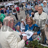 Tom Durkin signing autograph   Tampa Bay Derby  . @ Tampa Bay Downs. March10 2018<br /> © Joe DiOrio/Winningimages.biz