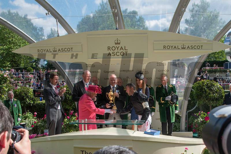 Stradivarius; Frankie Dettori; win th G1 Gold Cup; Royal Ascot; Ascot Race Course; Ascot; UK; 6-21-18; Photo by Mathea Kelley