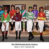 2018 Florida Derby Jockeys<br /> Coglianese Photos