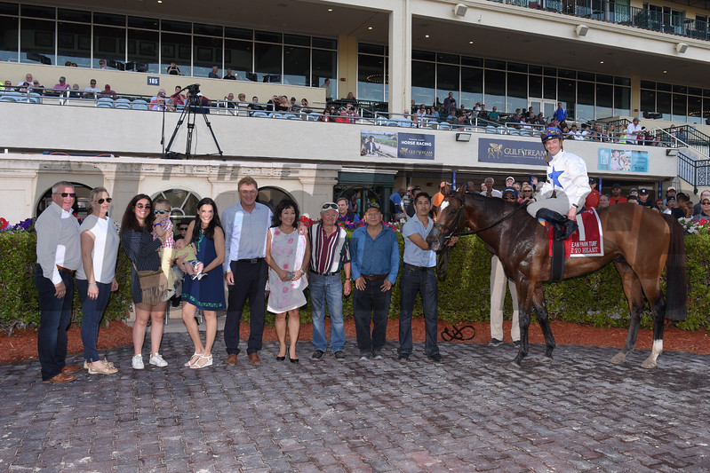 Heart to Heart wins the 2018 Gulfstream Park Turf Stakes<br /> Coglianese Photos