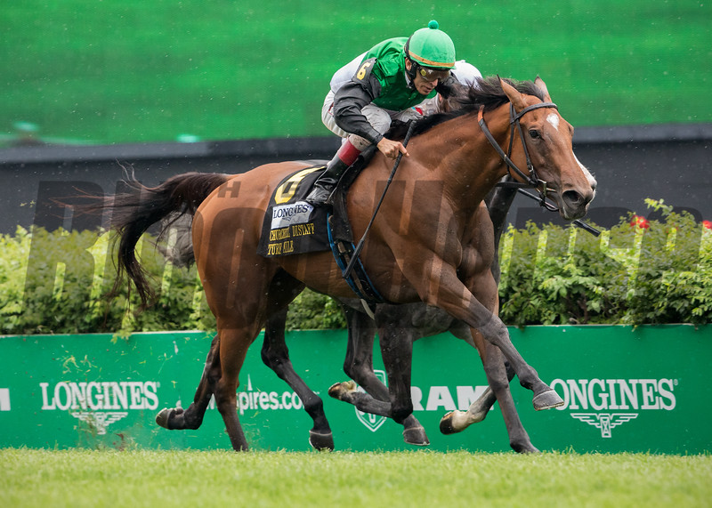 PROCTOR'S LEDGE wins The Longines Churchill Distaff Turf Mile at Churchill Downs on May 5th 2018, jockey John Velazquez up