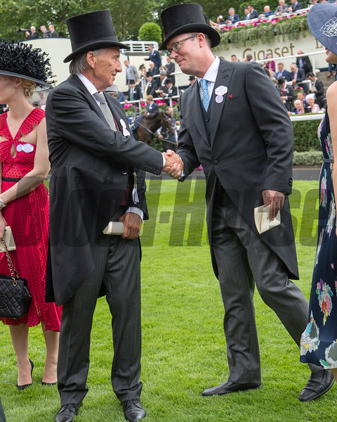 Without Parole, Frankie Dettori win the G1 St James's Palace Stakes owned by John and Tayna Gunther, , Royal Ascot, Ascot Race Course, Ascot, UK, 6-19-18, Photo by Mathea Kelley,