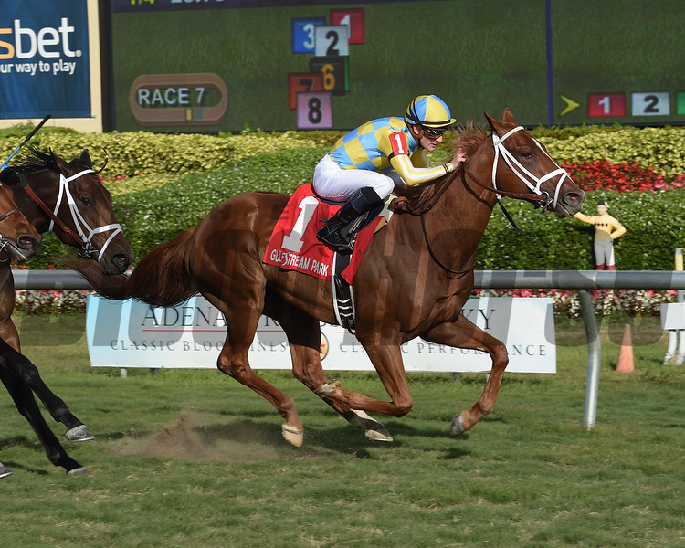 Flameaway wins the 2018 Kitten's Joy Stakes<br /> Coglianese Photos/Leslie Martin