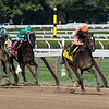 Imperial Hint with jockey Javier Castellano pulls away from the field to win the 34th running of The Alfred G. Vanderbilt at the Saratoga Race Course Saturday July 28, 2018 in Saratoga Springs, N.Y. Photo by Skip Dickstein