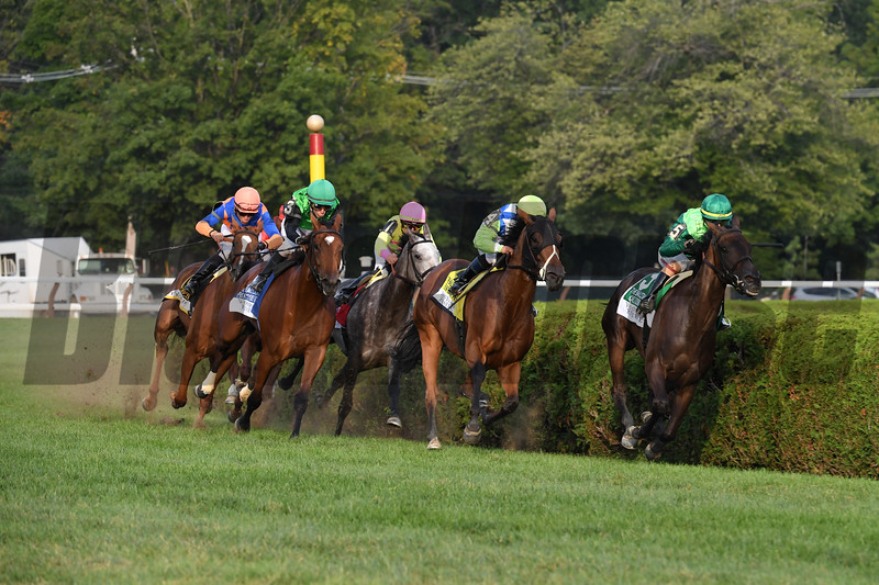 Quidura wins the 2018 Woodford Reserve Ballston Spa Stakes<br /> Coglianese Photos/Robert Mauhar