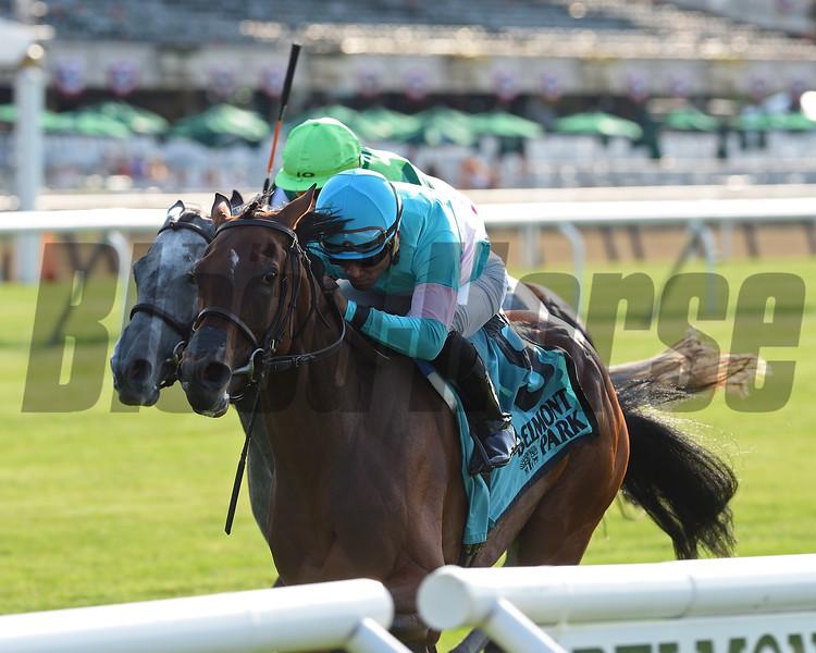 La Signare wins the 2018 Wonder Again Stakes<br /> Coglianse Photos/Chelsea Durand