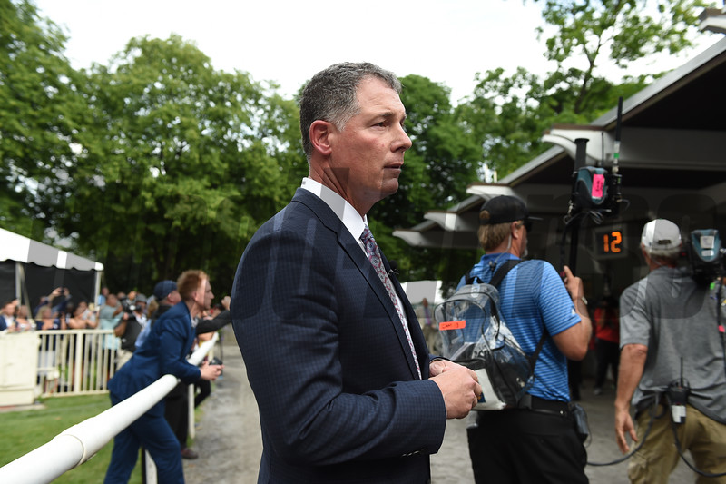Pat Shurmur at Belmont Park Saturday, June 9, 2018. Photo: Coglianese Photos