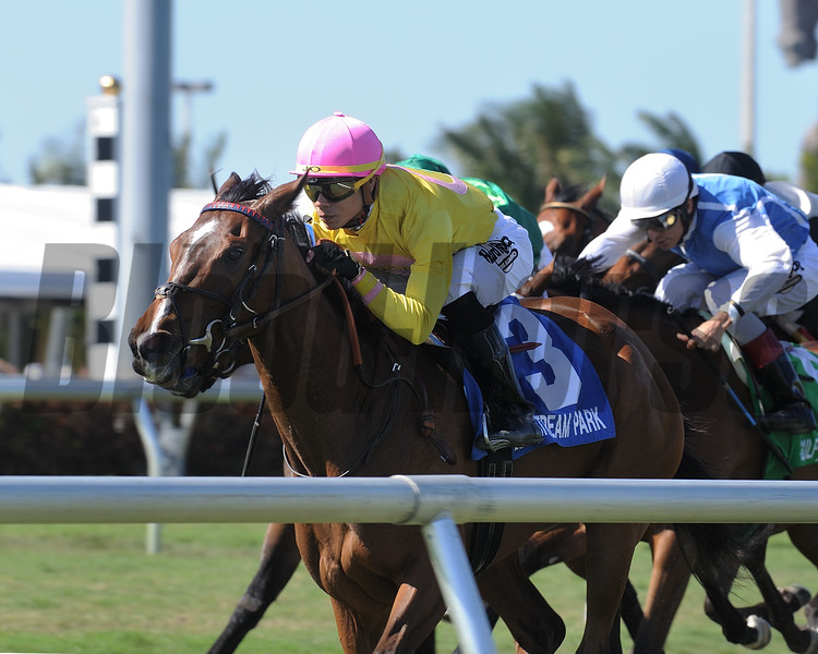 Thewayiam wins the 2018 Herecomesthebride Stakes<br /> Coglianese Photos/Kenny Martin