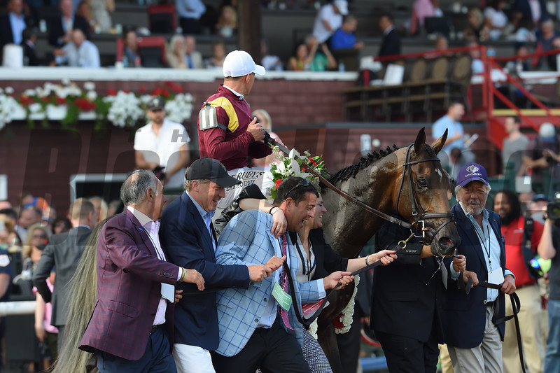 Catholic Boy wins the 2018 Travers Stakes<br /> Coglianese Photos