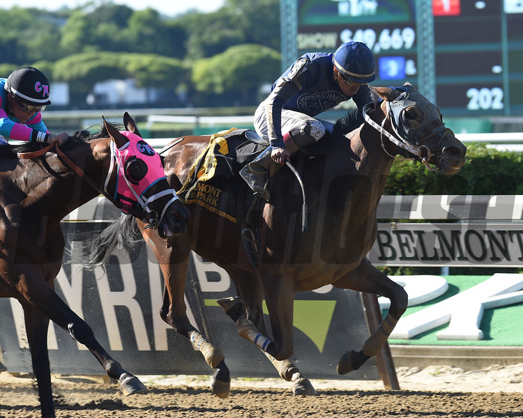 Dixie Serenade wins the Victory Ride Stakes at Belmont Park Sunday, July 8, 2018. Photo: Coglianese Photos/Chelsea Durand