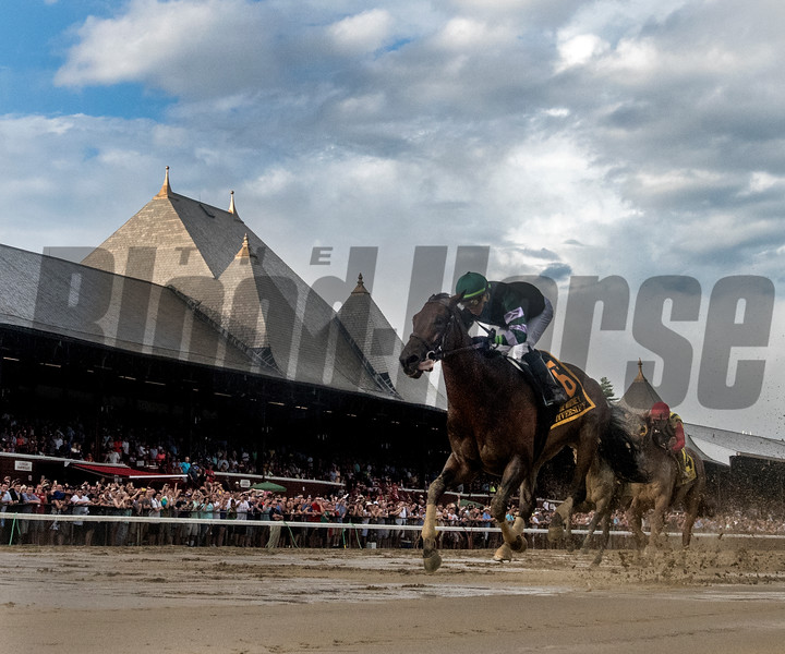 Diversify with jockey Irad Ortiz Jr. wins the 91st running of The Whitney at Saratoga Race Course Saturday Aug. 3, 2018 in Saratoga Springs, N.Y. <br /> Photo by Skip Dickstein