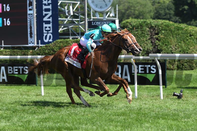 Uni (GB), Irad Ortiz Jr., Fasig-Tipton De La Rose Stakes, $100,000; Saratoga Race Course; August 4; 2018<br /> Coglianese Photos/Susie Raisher