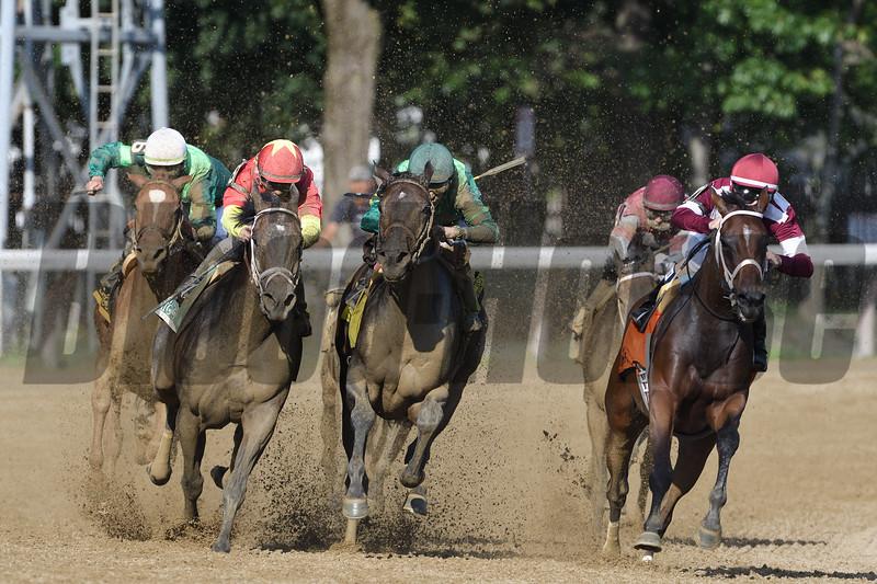 Farrell wins the Shuvee Stakes at Saratoga Sunday, July 29, 2018. Photo: Coglianese Photos/Arianna Spadoni