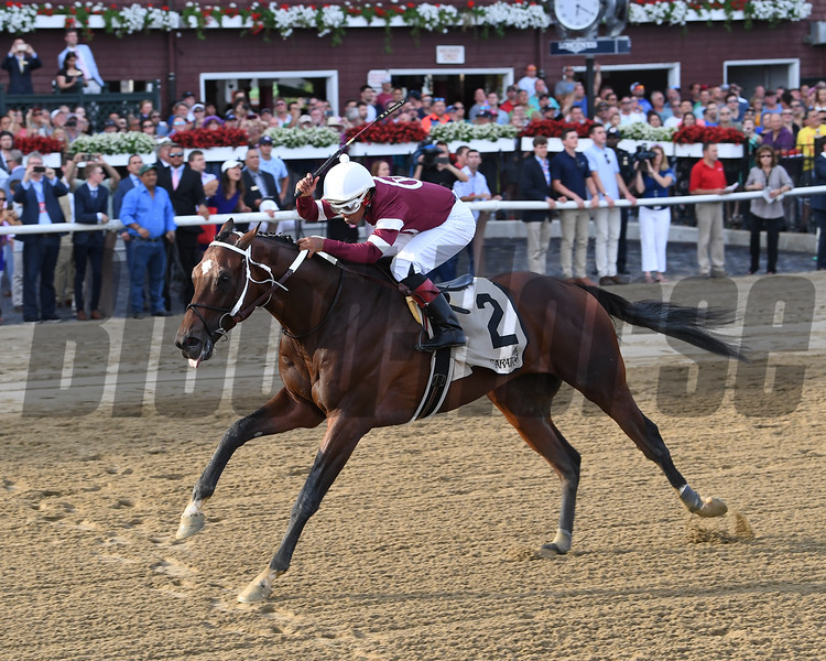 Tenfold wins the Jim Dandy Stakes at Saratoga Saturday, July 28, 2018. Photo: Coglianese Photos/Chelsea Durand