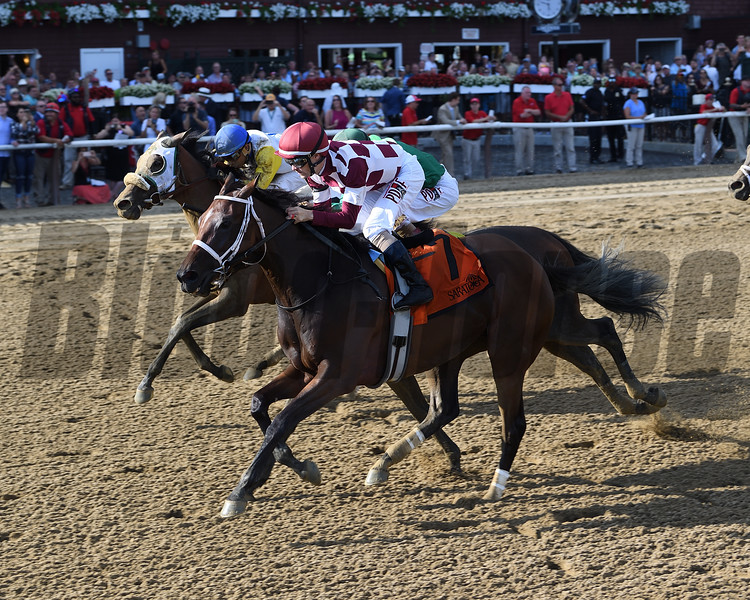 Farrell wins the Shuvee Stakes at Saratoga Sunday, July 29, 2018. Photo: Coglianese Photos/Chelsea Durand