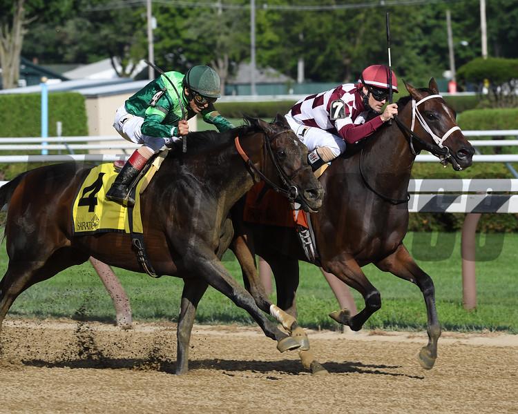 Farrell wins the Shuvee Stakes at Saratoga Sunday, July 29, 2018. Photo: Coglianese Photos