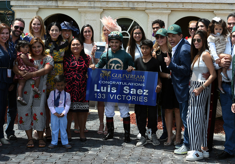 Luis Saez; 133 wins; meet record; Gulfstream Park; March 31 2018