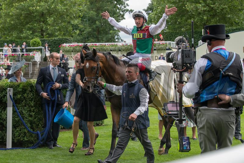 Without Parole wins St James's Palace Stakes at Royal Ascot June 19, 2018. Photo: Mathea Kelley