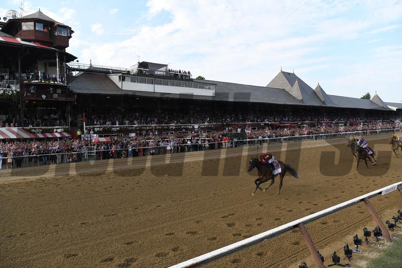 Catholic Boy wins the 2018 Travers Stakes<br /> Coglianese Photos/Stacey Hetherington